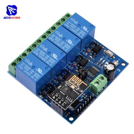 DC 12V ESP8266 Four Channel Relay Module & ESP-01 WIFI Module for Smart Home Intelligent Furniture 4 Channel WIFI Relay Module