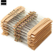 New Aiirval 560pcs 56 Values 1/4W 1% Metal Film Resistors Assorted Kit Set 1 ohm ~ 10M ohm 6X2mm Electronic lovers Resistor