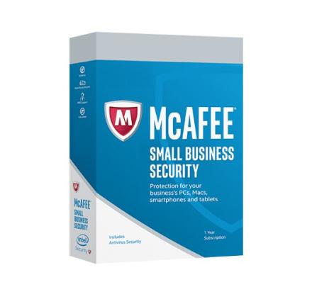 McAfee Small Business Security - 5 PC/Mac (obegränsade mobila enheter)
