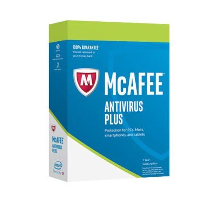 McAfee Antivirus Plus 2019 - 10 enheter / 1 år