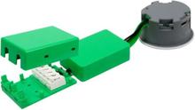 NVC Arden 40 Firkantet Innbygningsspot Utendørs 6W/927 LED, Sort