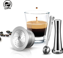 Compatiable Caffitaly & k FEE Coffee Machine Minipresso Tchibo Cafeteira Reusable Capsule STAINLESS STEEL Capsule