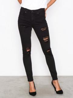 Topshop Topshop Super Rip Jamie Jeans Skinny Black