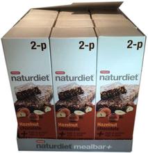 Hel låda Naturdiet Mealbar Hasselnöt Choklad 2-pack - 61% rabatt
