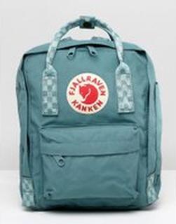 Fjallraven - Mini Kånken - Grön ryggsäck med kontrastränder - Frost green