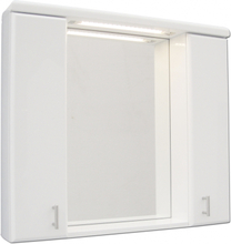 Demerx Spegelskåp m. LED Belysning Skagerack 70 Vit