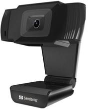 Sandberg USB Webcam - indbygget stereomikrofon - USB 2.0 - perfekt til onlinemøder
