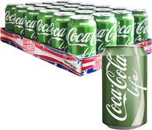 """Hel Platta Coca Cola """"Life"""" 24 x 355ml - 72% rabatt"""