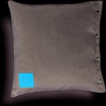 Ava prydnadskudde Ljusgrå/brun 50x50 cm
