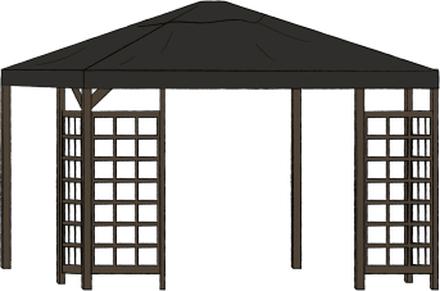 Hov paviljong (brun) Brun 4 x 3 m