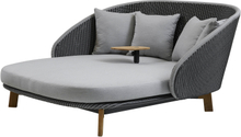 Peacock daybed med bord Grey/light grey
