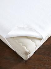 Spannauflage aus Baumwolle, ca. 160x200cm Dormisette weiss