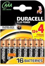 Duracell AAA Duralock Plus Power 16 kpl
