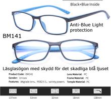 Läsglasögon 1.0 3.5 1.5 2.0 2.5 3.0 med blåljusfilter bm141