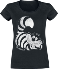Alice in Wonderland - Cheshire Cat -T-skjorte - svart