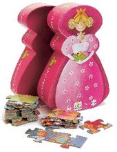 Djeco Silhuettpussel - Prinsessan och grodan (36 bitar)