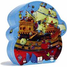 Djeco silhuettpussel - Barbarossas piratskepp (54 bitar)