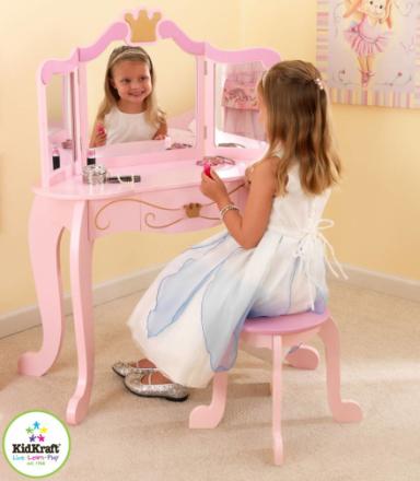 Sminkbord och pall - Prinsessa