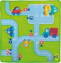 Barnrumsmatta - Trafik (133 x 133 cm)