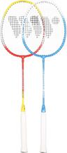Badmintonset (röd, gul, blå &amp vit) ALUMTEC 366K