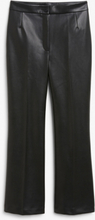 Faux leather trousers - Black