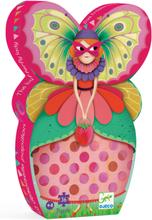 Silhuettpussel - fjärilsdamen (36 bitar)