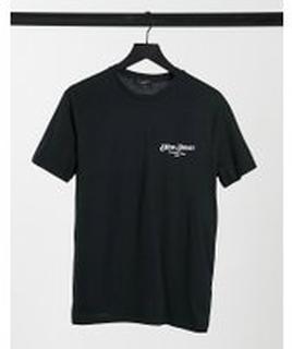 New Look – Svart t-shirt med 'New Jersey'-texttryck