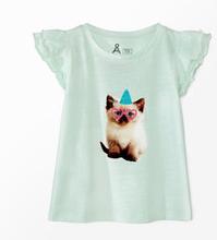 T-shirt med volangärm