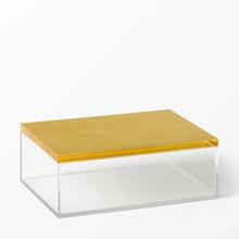 Förvaringsbox Saltsjön med guldfärgat lock, 17,4x12x6,5 cm