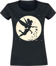 Peter Pan - Tinker Bell - Moon -T-skjorte - svart