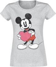 Mickey Mouse - Heart Gift -T-skjorte - lynggrå