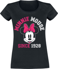 Mickey Mouse - Minnie Mouse since 1928 -T-skjorte - svart