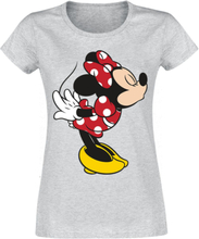 Mickey Mouse - Minnie Kiss -T-skjorte - lynggrå