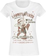 Looney Tunes - Wile E Coyote Guitar -T-skjorte - hvit