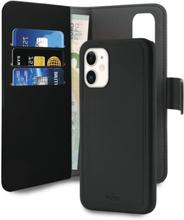Puro iPhone 11, EcoLeather Wallet Detachable, Svart