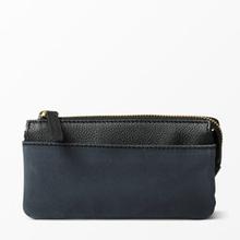 Plånbok i skinn/mocka