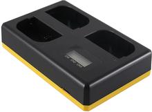 Trippelladdare Canon LP-E6 / LP-E6N - Laddar 3 batterier, även samtidigt