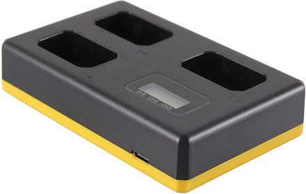 Trippelladdare Sony NP-FW50 - Laddar 3 batterier, även samtidigt