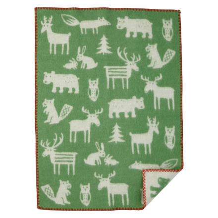 Ullfilt Forest 100% ekologisk Grön Klippan Yllefabrik
