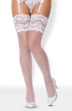 Obsessive 810-STO-2 Stockings White L/XL