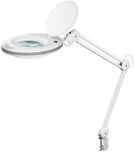 UK - LED clip magnifier lamp 7.5 W white 125 mm glass