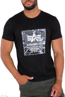 Alpha Industries Camo Block - T-skjorte - Svart - M
