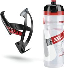 Elite Kit Supercorsa/Paron Bottle & Holder 0.75 litres clear/red/black/red 2019 Drikkesystem