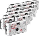 Engångskamera Love White 11 st med inbyggd blixt