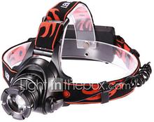 LETO N8 Säädettävä Focus3-Mode 1xCree XM-L T6 Vedenpitävä Ajovalaisimet (2x18650, 2000lm, musta)