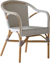 Sika-Design Madeleine tuoli käsinojilla, valkoinen