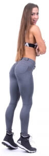 Nebbia Bubble Butt Pants, grey, large Treningstights dame