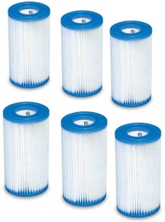 Intex Filter A, 6-Pack, Intex Tilbehør Intex type A