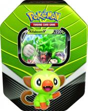 Pokemon kort i tin æske - 2020 Galar Partners Tin - Rillaboom