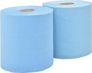 vidaXL 2-lags industriel papirrulle 2 ruller 20 cm blå